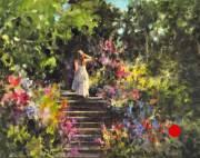 stjohn.Strolling-the-Garden.11X14-oil.1250sold