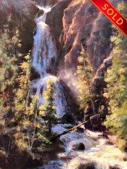 stjohn.Falls-First-Light.12X9-oil.1150-watermarked